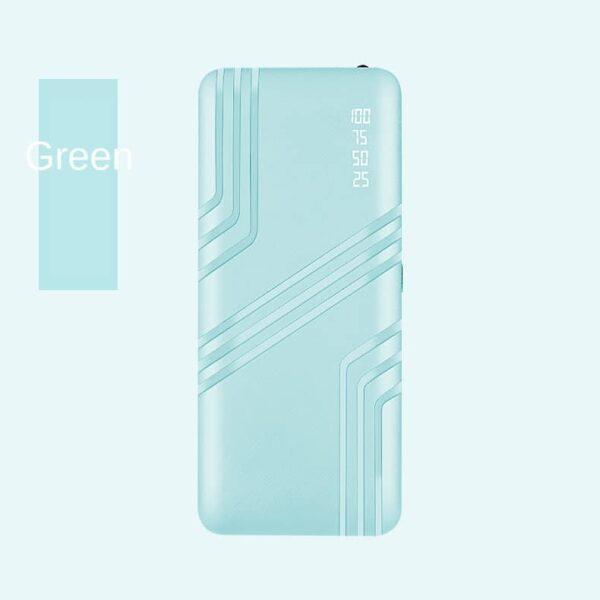 Batterie externe 50000mAh Verte vue de face