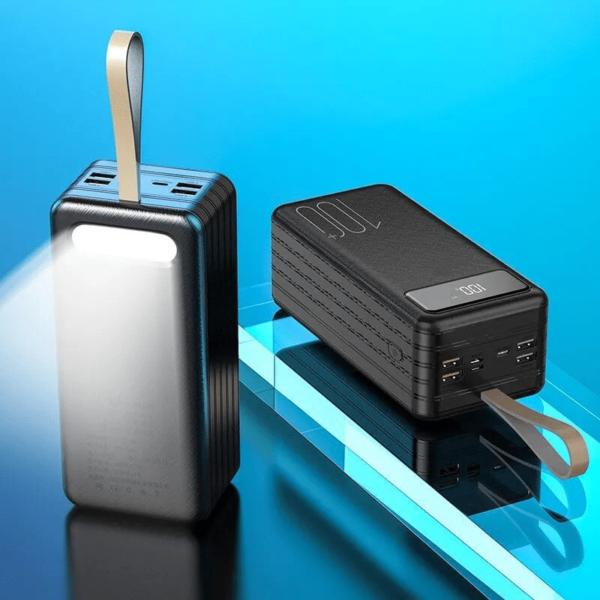 Batterie externe 50000mAh puissante éclairage