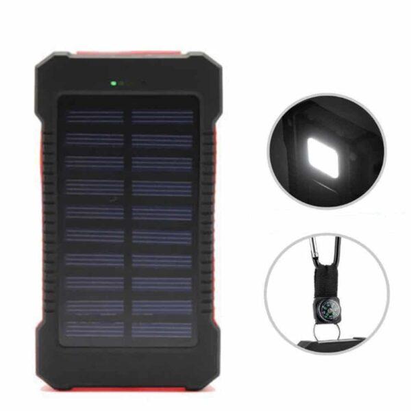 Batterie externe Double USB Solaire energie solaire