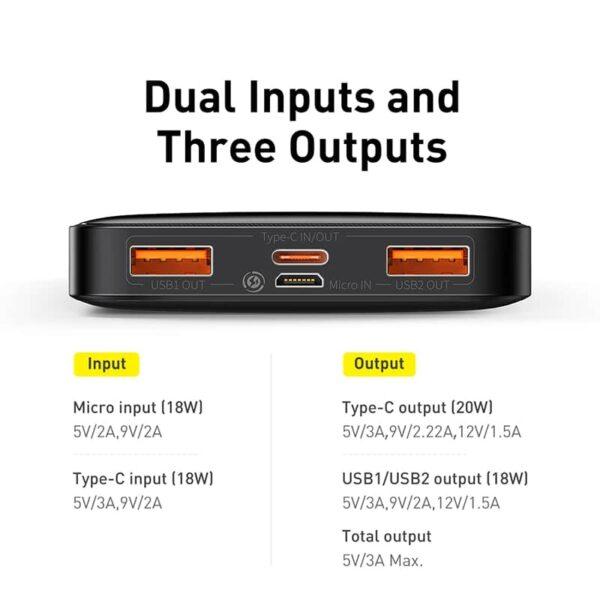 Batterie externe Silvercrest 20000mAh double entrée