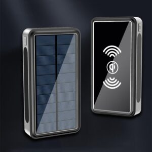 Batterie externe Solaire 80000mAh charge sans fil