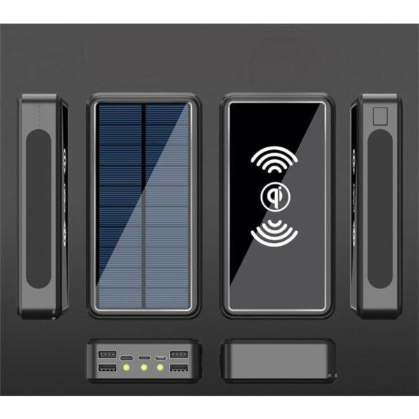 Batterie externe Solaire 80000mAh vue complète