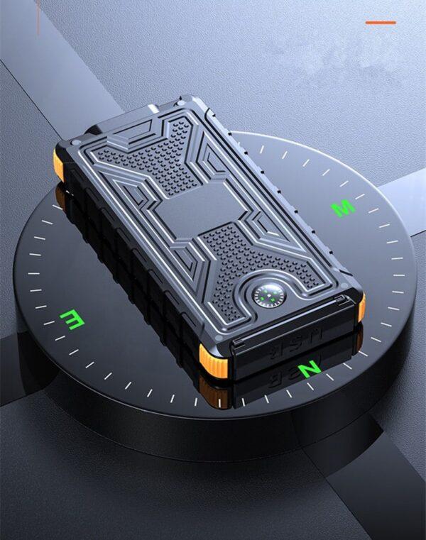 Batterie externe Solaire 8000mAh avec boussole