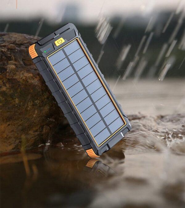 Batterie externe Solaire 8000mAh étanche à la pluie