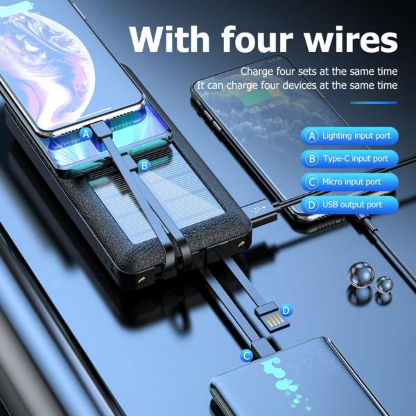 Batterie externe Solaire ALLPOWERS câbles integrés