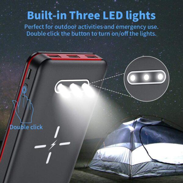 Batterie externe Solaire Aikove lampe torche