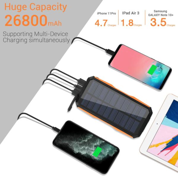 Batterie externe Solaire LEIK iphone samsung