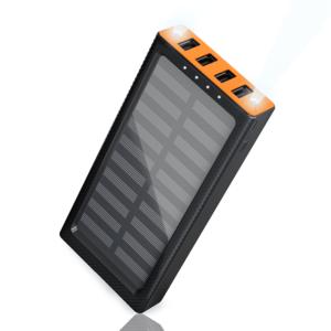 Batterie externe Solaire de couleur Orange