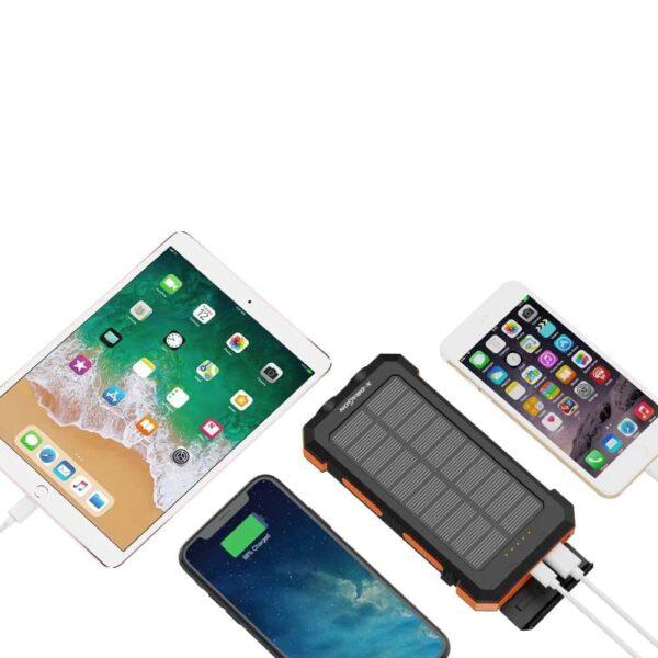 Batterie externe Solaire Powerbank iphone iPad