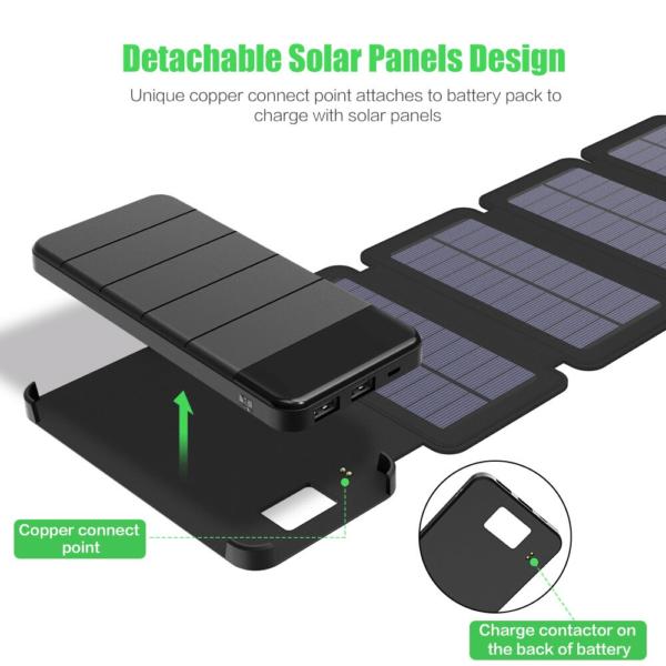 Batterie externe Solaire Puissante plusieurs panneaux solaires