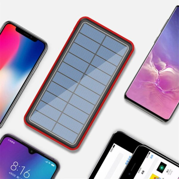 Batterie externe Solaire QCells samsung iphone ipad xiaomi