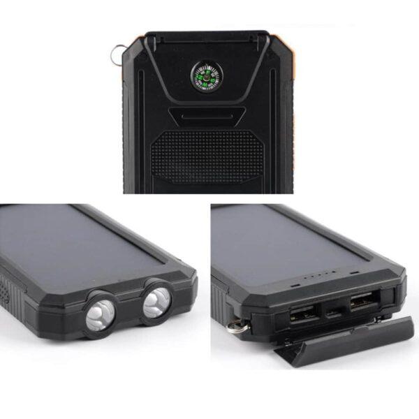 Batterie externe Solaire Téléphone boussole