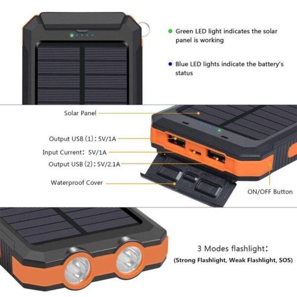 Batterie externe Solaire WST caractéristiques
