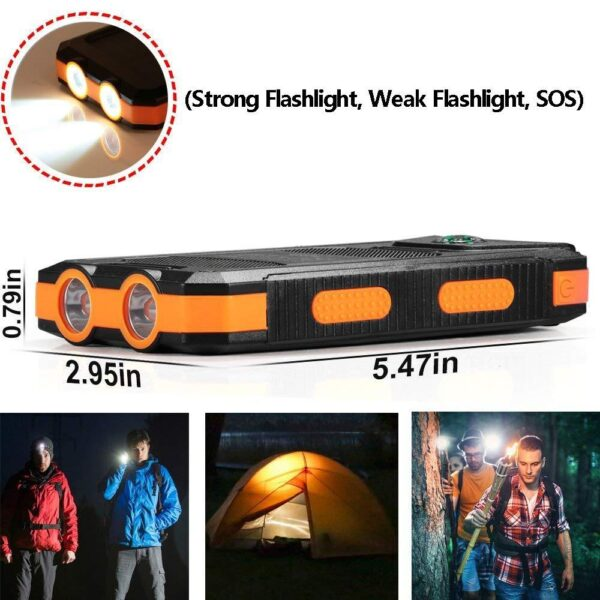 Batterie externe Solaire WST flashlight