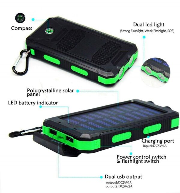Batterie externe Solaire WST power bank