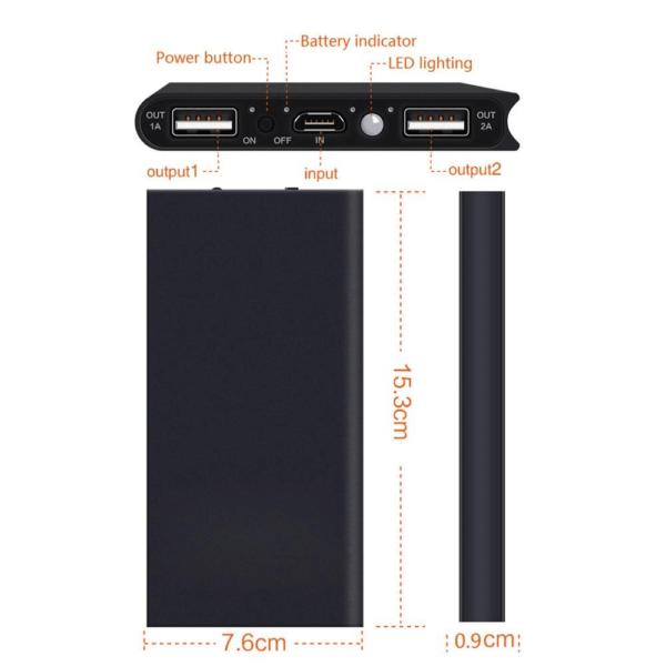 Batterie externe Solaire Xiaomi ports et caractéristiques