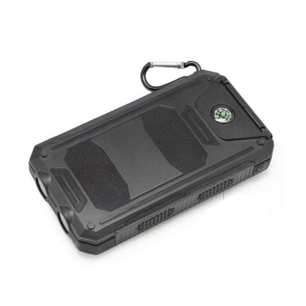 Batterie externe avec Panneau Solaire boussole