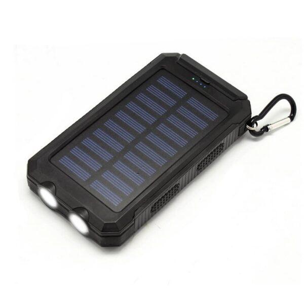 Batterie externe avec Panneau Solaire lampe de poche