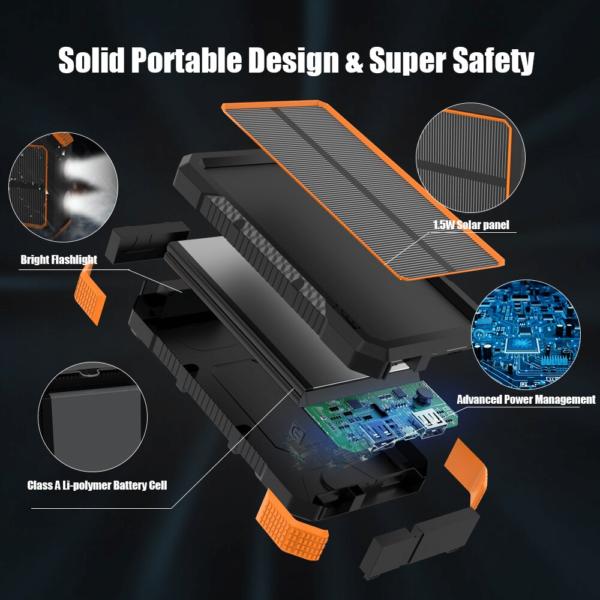 Batterie externe chargeur Solaire resistante