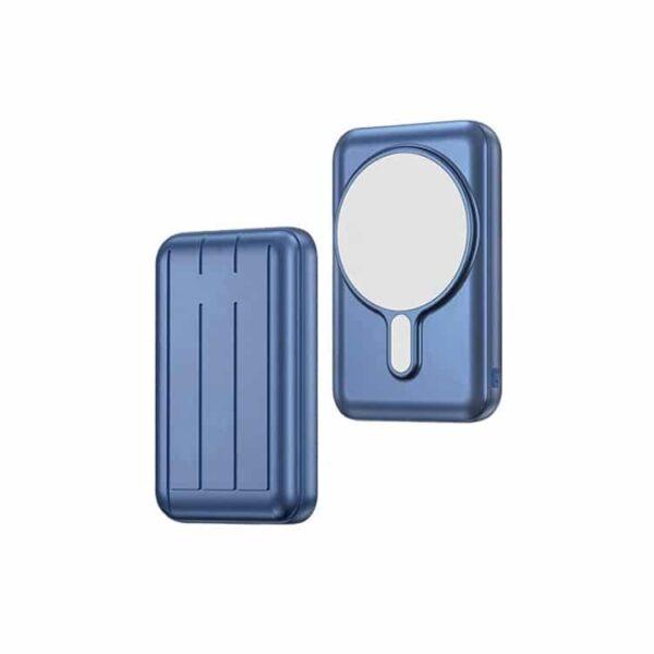 Batterie externe magnétique bleue