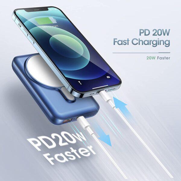 Batterie externe magnétique charge rapide PD20W