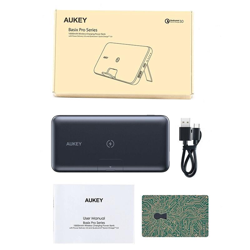 Batterie externe sans fil Aukey emballage