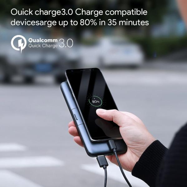 Batterie externe sans fil Aukeycharge rapide