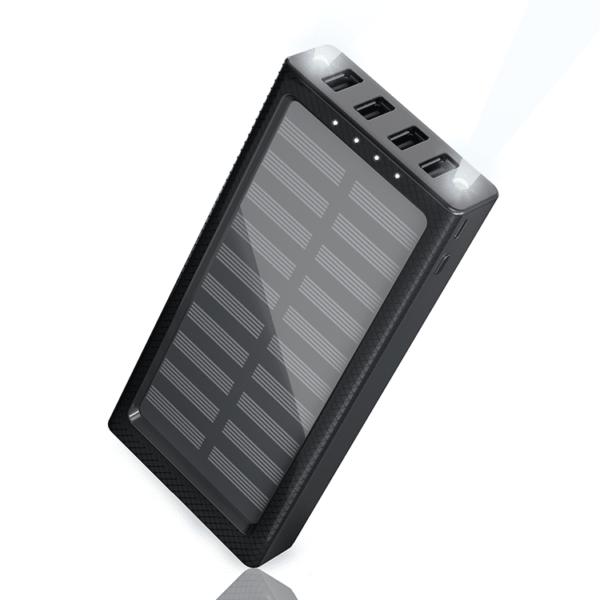 Batterie externe solaire SLIM NOIRE