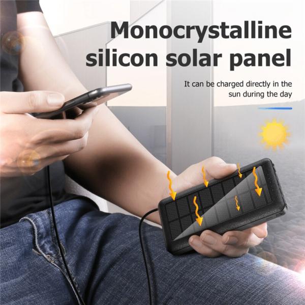 Epow Batterie Externe Solaire chargeur solaire